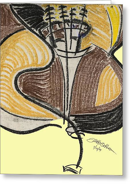 Broken Bass Dyptic 2 Greeting Card by Diallo House