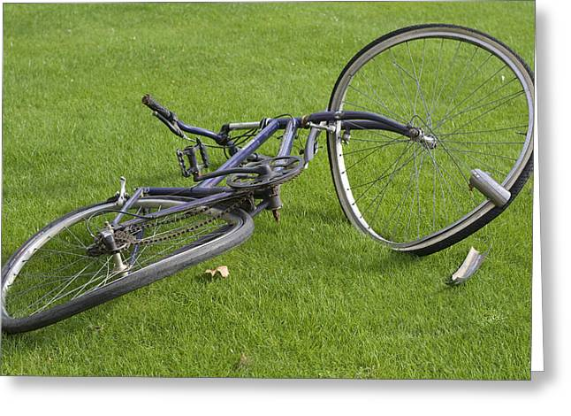 Broken Bicycle Greeting Card