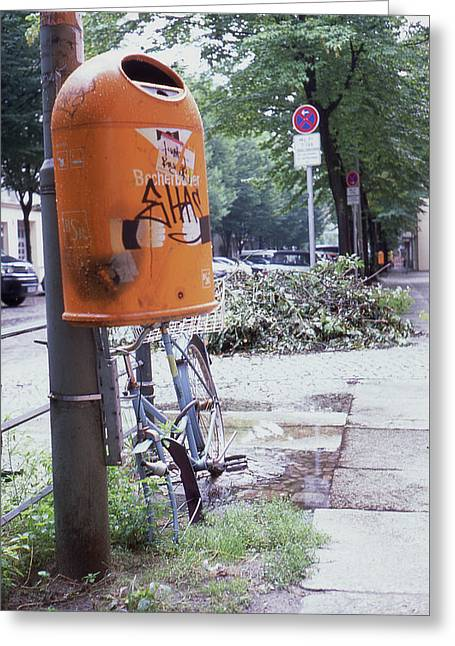 Broken Bike In Berlin Greeting Card