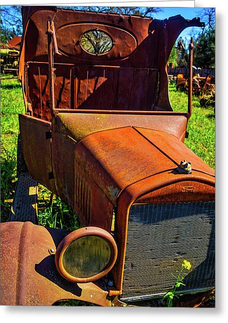 Broken Down Ford Greeting Card by Garry Gay