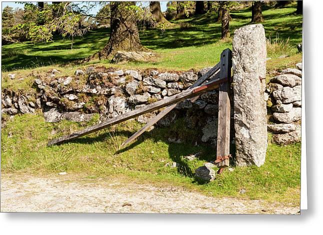 Broken Gate On Dartmoor Greeting Card