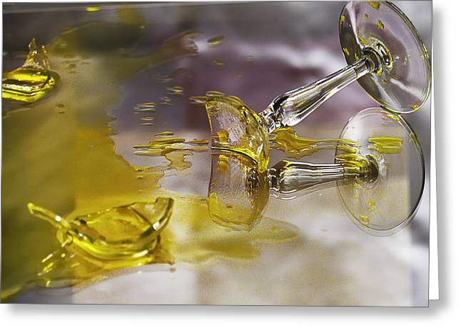 Greeting Card featuring the photograph Broken Glass by Susan Capuano