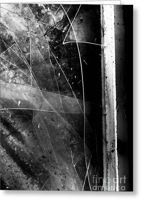 Broken Glass Window Greeting Card
