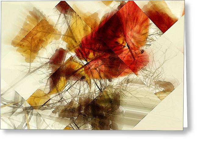 Broken Leaves Greeting Card by Martine Affre Eisenlohr