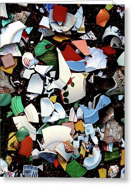 Greeting Card featuring the photograph Broken Memories by Art Shimamura
