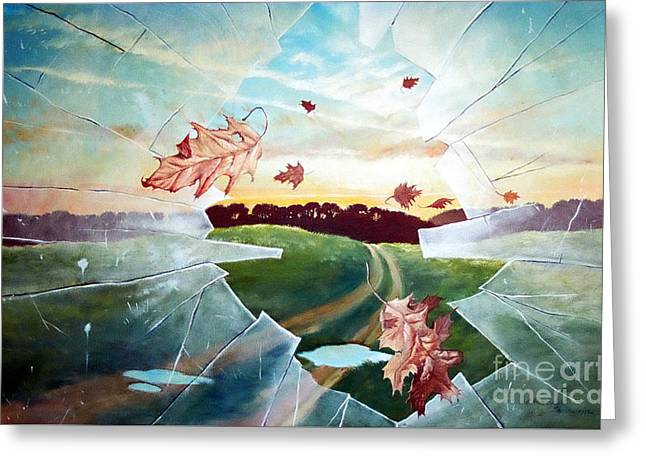 Broken Pane Greeting Card