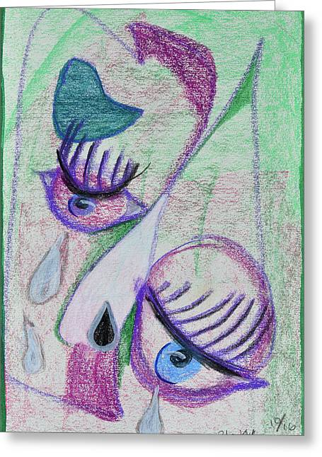 Broken People Greeting Card by Donna Blackhall