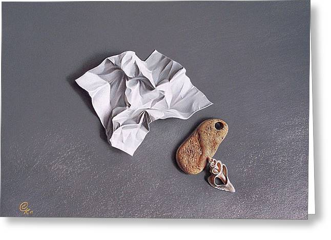 Love Letter Drawings Greeting Cards - Broken promise - 1 Greeting Card by Elena Kolotusha