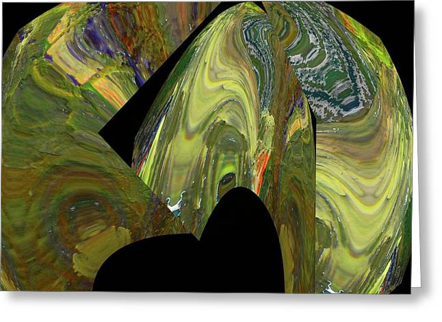 Broken Spehres Abstract Greeting Card