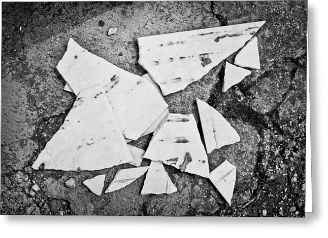 Broken Tile Greeting Card