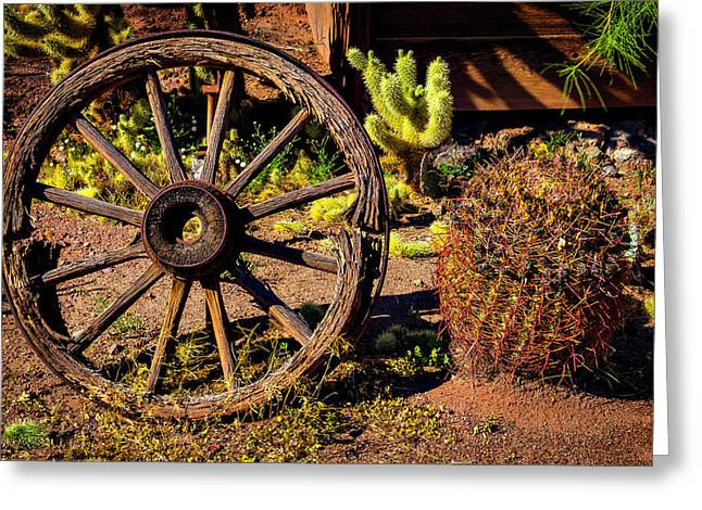 Broken Wagonwheel Greeting Card by Garry Gay