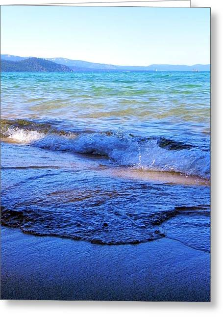 Broken Waves Greeting Card