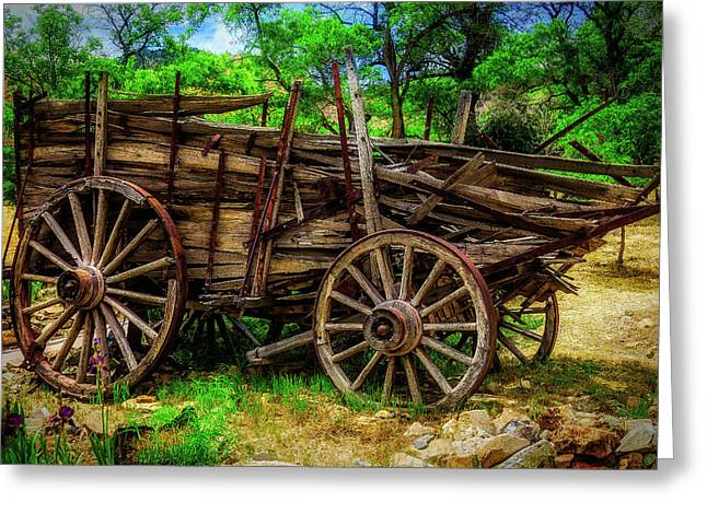 Broken Weathered Wagon Greeting Card by Garry Gay