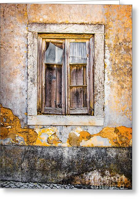 Broken Window Greeting Card by Carlos Caetano
