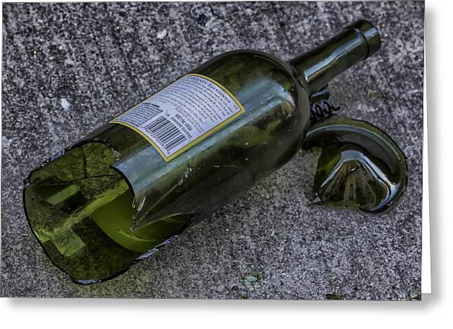 Broken Wine Bottle  Greeting Card by Robert Ullmann