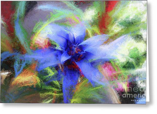 Bromeliad Exotic Tropical Plant Greeting Card