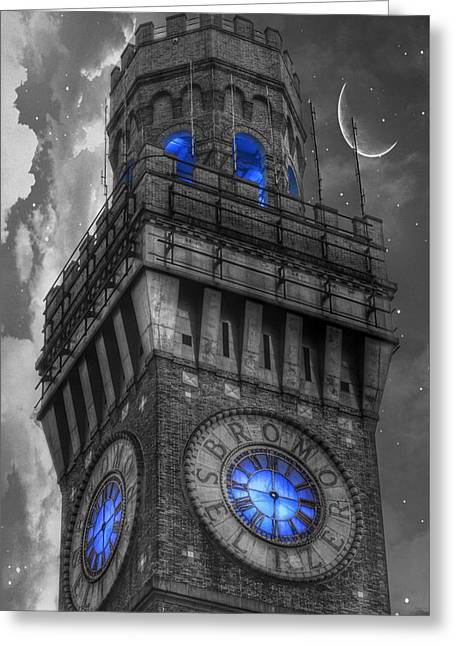 Bromo Seltzer Tower Baltimore - Blue  Greeting Card