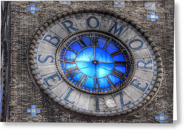 Bromo Seltzer Tower Clock Face #4 Greeting Card