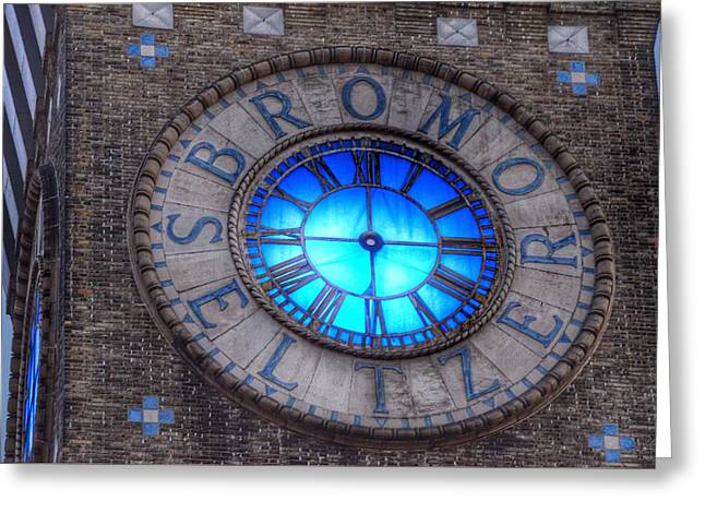 Bromo Seltzer Tower Clock Face Greeting Card