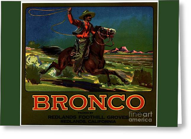 Bronco Redlands California Greeting Card by Peter Gumaer Ogden
