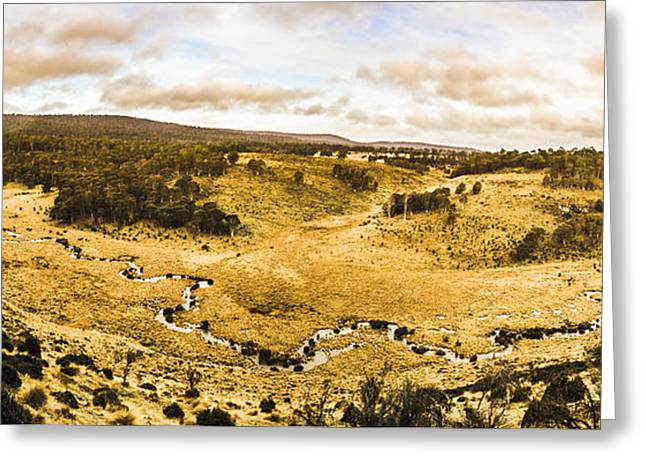 Bronte Park Valley Panorama  Greeting Card