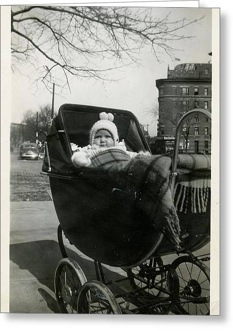 Bronx Baby Circa 1940 Greeting Card