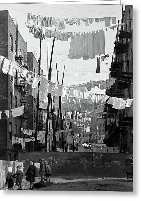 Bronx Laundry Day 1936 Greeting Card