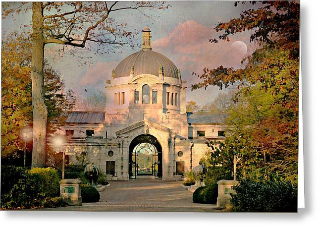 Bronx Zoo Entrance Greeting Card by Diana Angstadt