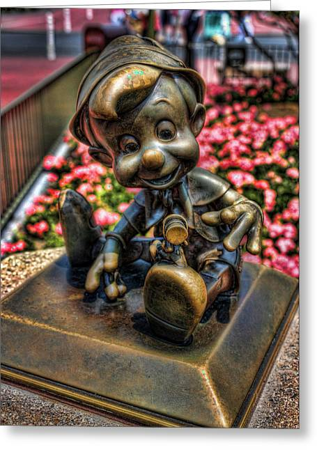 Wdw Greeting Cards - Bronze Boy Greeting Card by Joetta West