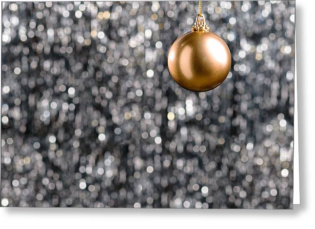 Greeting Card featuring the photograph Bronze Christmas  by Ulrich Schade