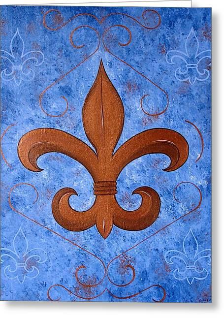 Bronze Fleur De Lis Greeting Card