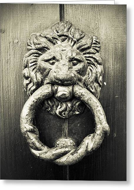 Bronze Knocker Greeting Card