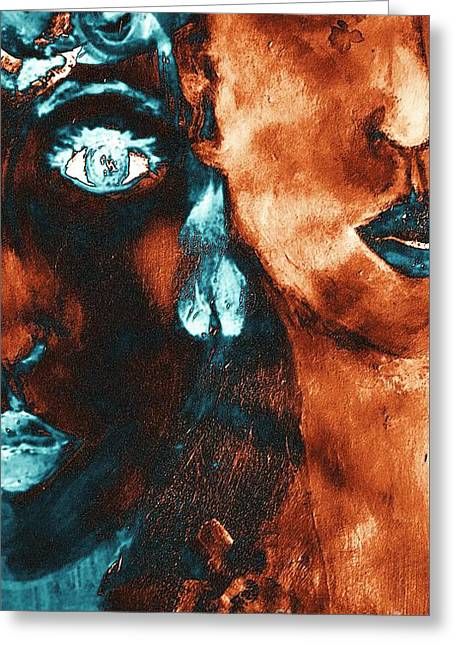 Bronze Sisters Painting Greeting Card