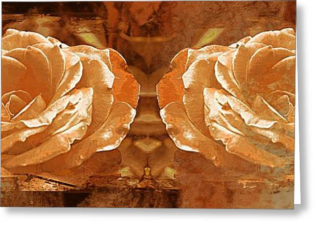Bronzed Greeting Card by Clare Bevan