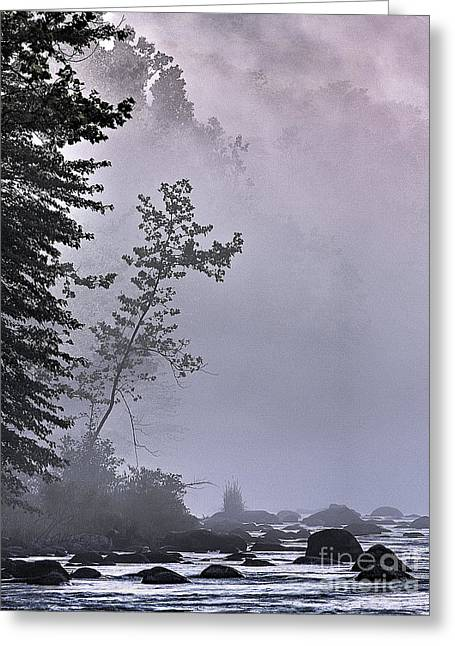 Brooding River Greeting Card