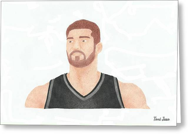 Brook Lopez Greeting Card