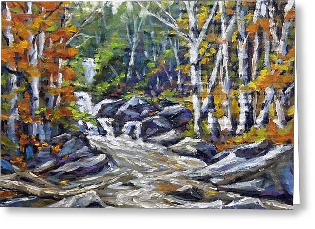 Brook Traversing Wood Greeting Card by Richard T Pranke