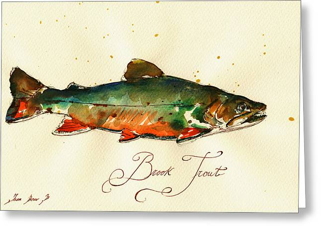 Brook Trout Art Greeting Card