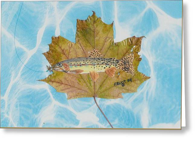 Brook Trout On Fly Greeting Card