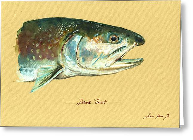 Brook Trout Watercolor Greeting Card