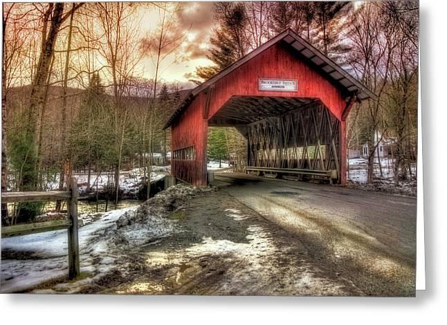 Brookdale Covered Bridge - Stowe Vt Greeting Card