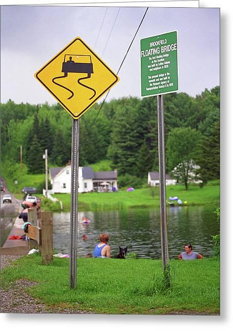 Brookfield, Vt - Floating Bridge 2 Greeting Card