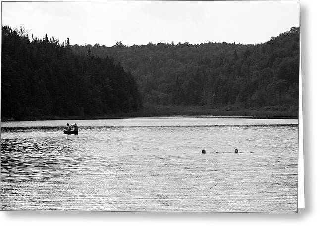 Greeting Card featuring the photograph Brookfield, Vt - Swimming Hole 2006 Bw by Frank Romeo