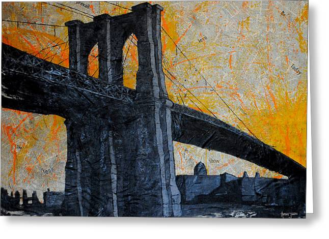 Brooklyn Bound  Greeting Card by Anthony Jensen