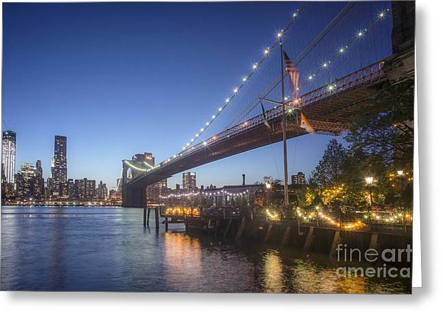 Greeting Card featuring the photograph Brooklyn Brdige New York  by Juergen Held