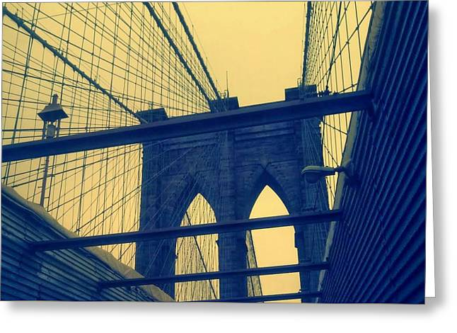 New York City's Famous Brooklyn Bridge Greeting Card