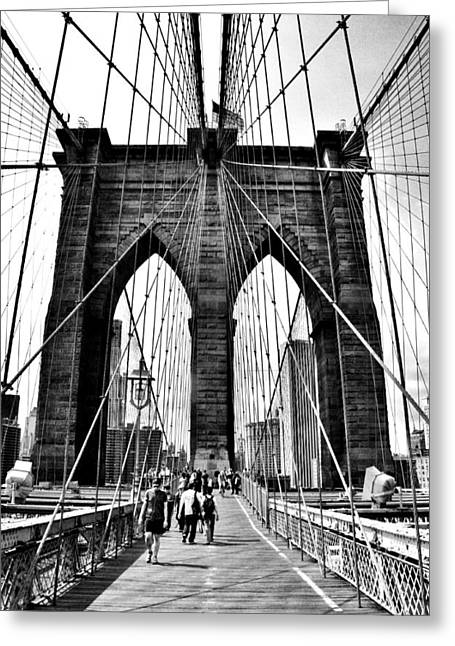 Brooklyn Bridge 2 Greeting Card by Andrew Dinh