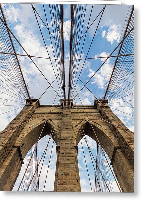 Greeting Card featuring the photograph Brooklyn Bridge 3 by Emmanuel Panagiotakis