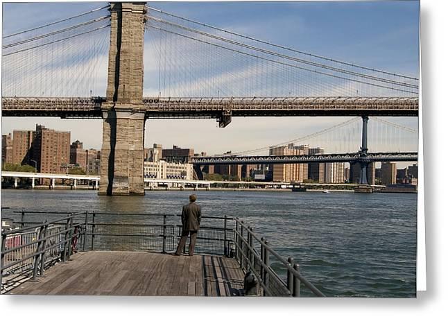 Brooklyn Bridge  Greeting Card by Andrew Kazmierski