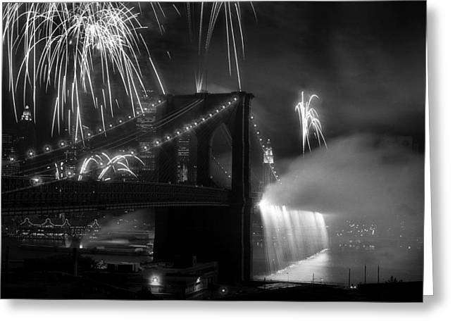 Brooklyn Bridge Columbus Quincentennial 1992 Greeting Card by Tom Callan